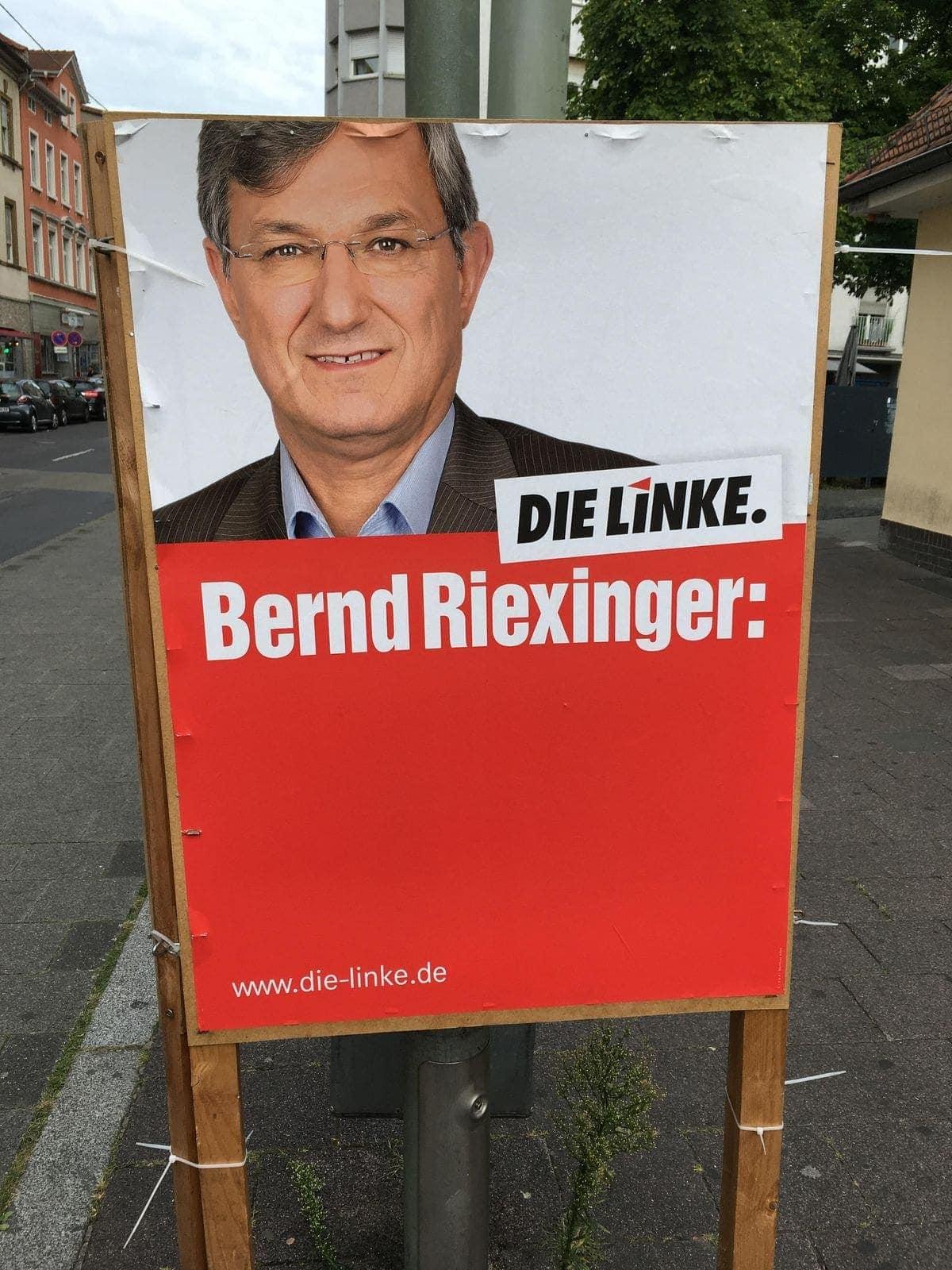 Das ehrlichste Werbeplakat kommt von Bernd Riexinger (Die Linke) | Lustiges | Was is hier eigentlich los?