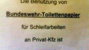 Das Klopapier der Bundeswehr - Vielseitig einsetzbar | Lustiges | Was is hier eigentlich los? | wihel.de