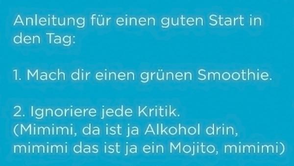 Der grüne Smoothie meiner Wahl | Lustiges | Was is hier eigentlich los? | wihel.de