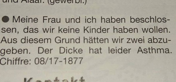 Ein Paar möchte keine Kinder haben | Lustiges | Was is hier eigentlich los? | wihel.de