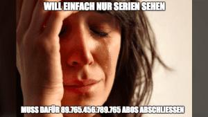 Gedankentüdelüt (71): Serien sind cool – Streaminganbieter nicht | Kolumne | Was is hier eigentlich los? | wihel.de