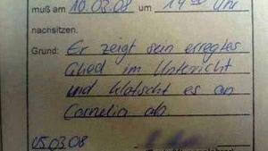 Ein kleiner Brief vom Klassenlehrer | Lustiges | Was is hier eigentlich los?