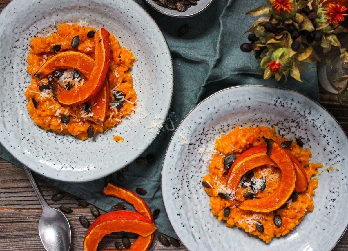 Line kocht Karotten-Risotto mit gebackenen Kürbisspalten | Line kocht | Was is hier eigentlich los?