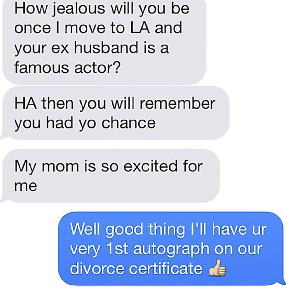 Wenn der/die Ex eine Kurznachricht schreibt ... | Lustiges | Was is hier eigentlich los?
