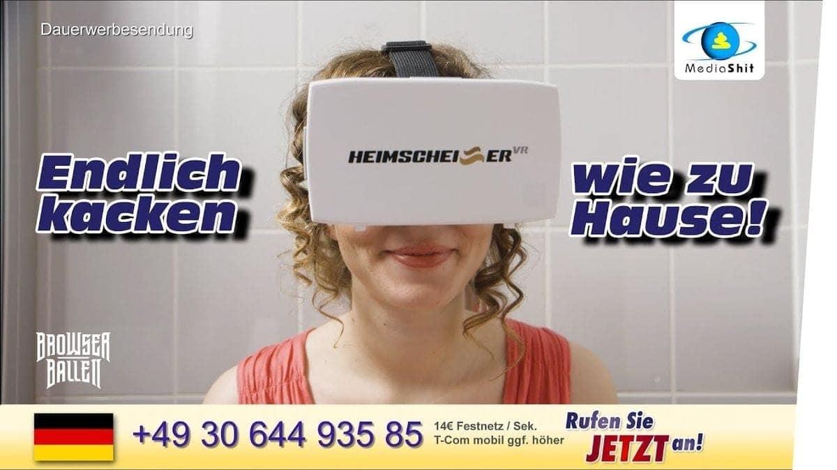 Heimscheißer VR – Für alle, die nur Zuhause können | Lustiges | Was is hier eigentlich los?