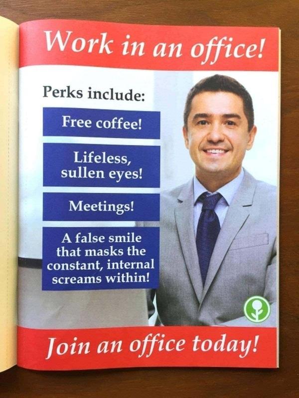 Büro-Plakate der besonderen Art | Lustiges | Was is hier eigentlich los? | wihel.de