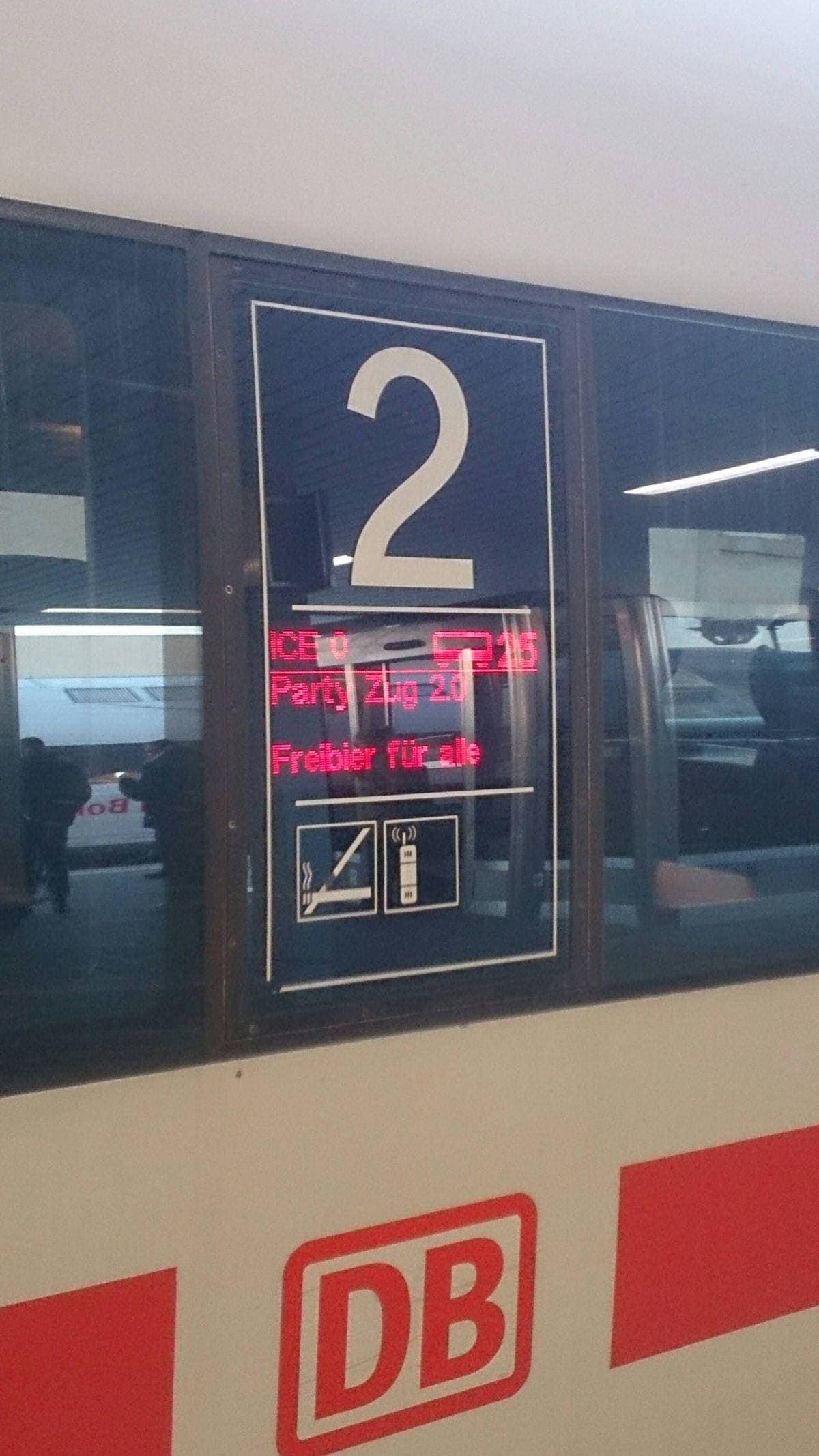 Neues Angebot bei der Deutschen Bahn: Freibier für alle! | Lustiges | Was is hier eigentlich los?