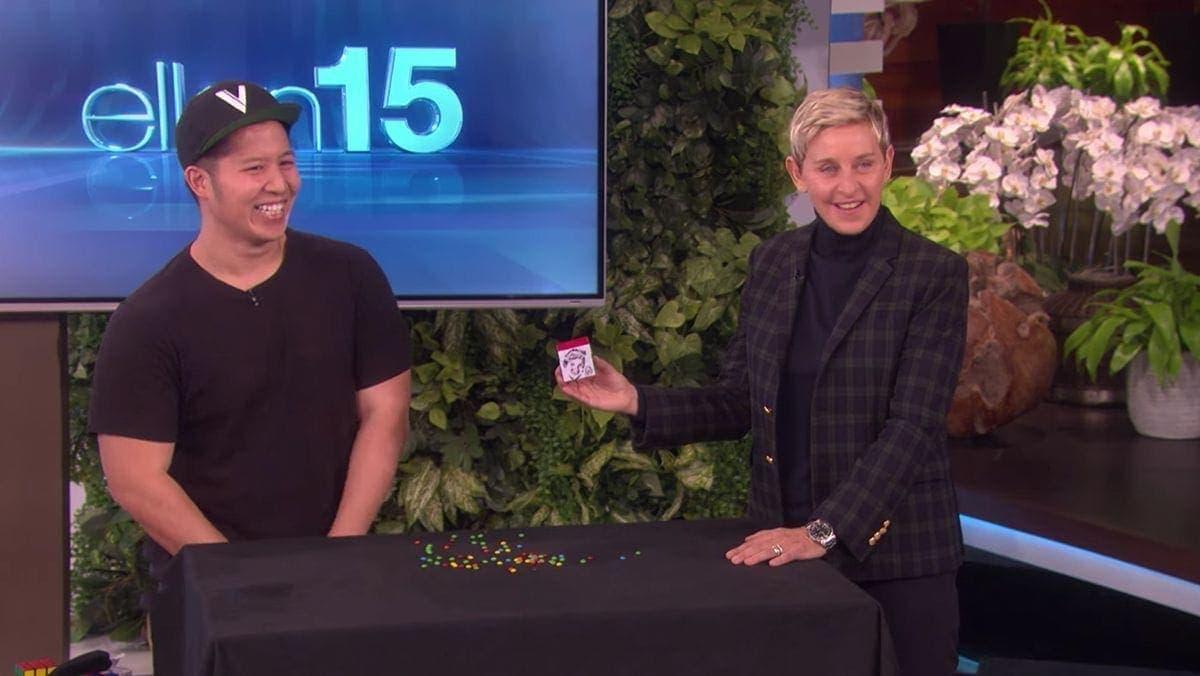 Paul Vu verzaubert mit seinen Rubik's Cubes Ellen DeGeneres. Und dich. | Awesome | Was is hier eigentlich los?