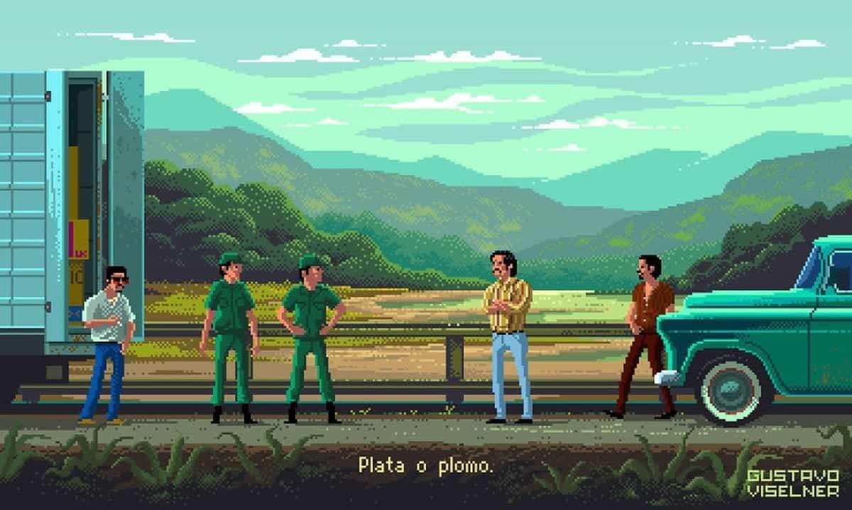 TV-Serien-Pixelkunst von Gustavo Viselner | Kino/TV | Was is hier eigentlich los?
