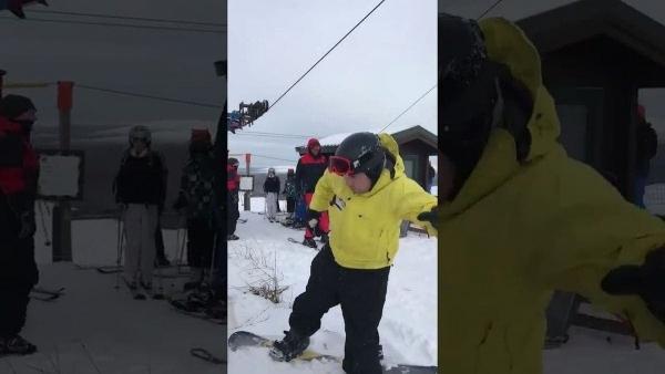 Wenn man mit dem Snowboard den Ski-Lift benutzen will | Lustiges | Was is hier eigentlich los? | wihel.de