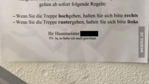 Das aktuell deutscheste Treppenhaus | Lustiges | Was is hier eigentlich los? | wihel.de