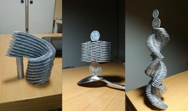 Münzenstapelkunst von Tanu | Design/Kunst | Was is hier eigentlich los? | wihel.de