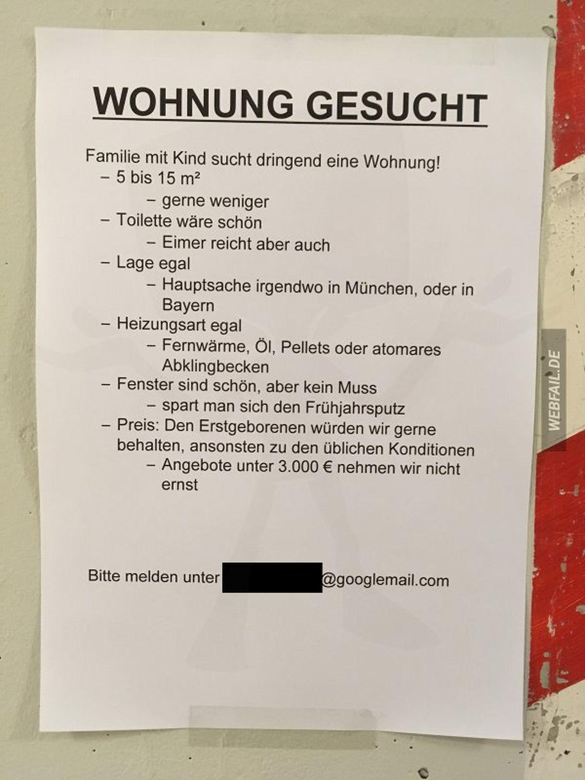 Ein Sinnbild für die aktuelle Wohnungssituation in deutschen Großstädten | Lustiges | Was is hier eigentlich los?