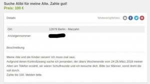 Hat jemand zufällig ein Alibi rumliegen? | Lustiges | Was is hier eigentlich los? | wihel.de