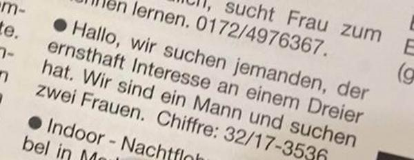 Auf der Suche nach einem Dreier ... | Lustiges | Was is hier eigentlich los? | wihel.de