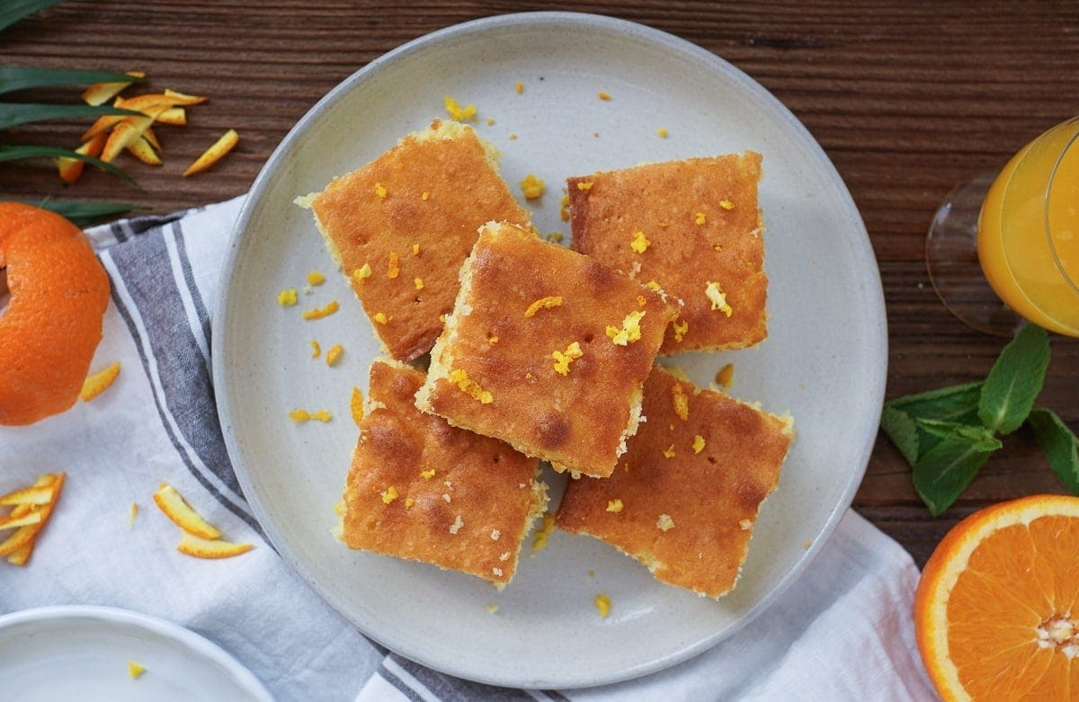 Line backt Orangenkuchen mit Minz-Mascarpone-Creme | Line backt | Was is hier eigentlich los?