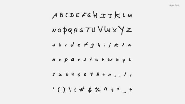 Schreiben wie Kurt Cobain, David Bowie oder John Lennon: Songwriters Fonts | Design/Kunst | Was is hier eigentlich los?