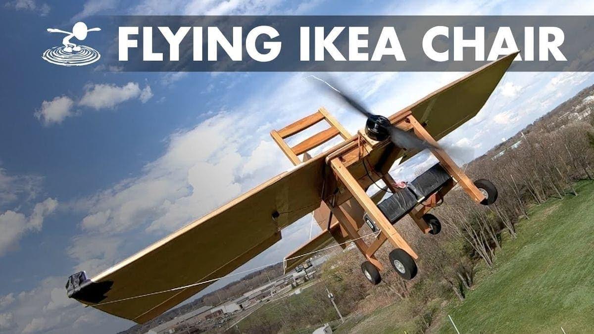 Ein IKEA-Stuhl als Flugzeug | Gadgets | Was is hier eigentlich los?