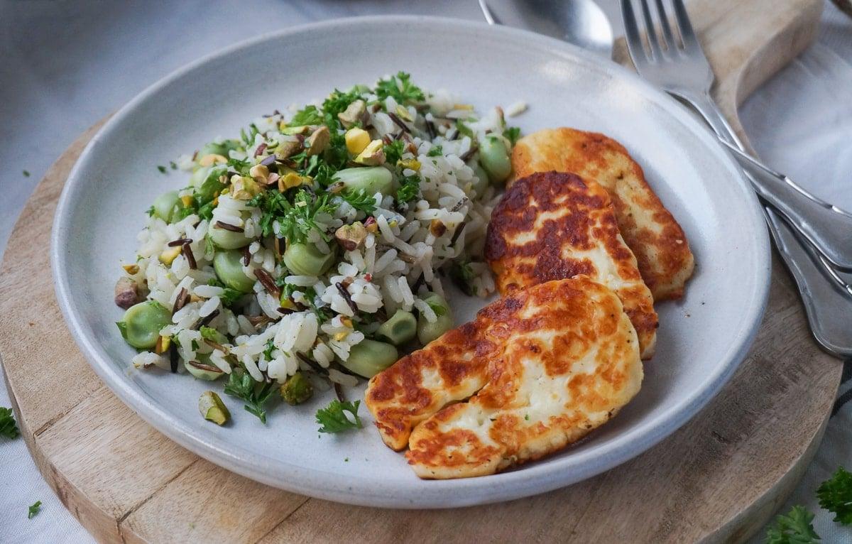 Line macht Wildreis-Salat mit Bohnen, Pistazien und Hallumi | Line kocht | Was is hier eigentlich los?