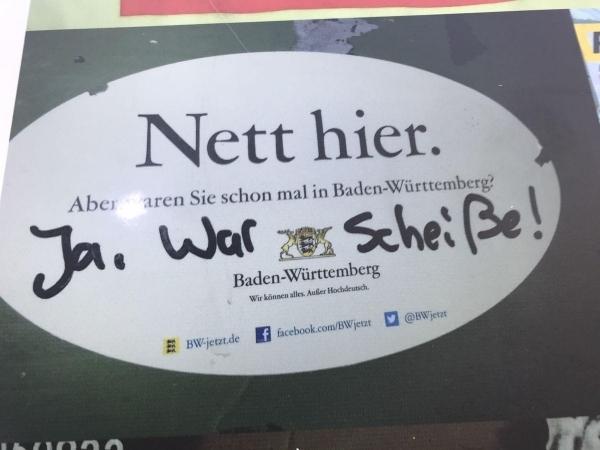Baden-Württemberg scheint keine Reise wert zu sein | Lustiges | Was is hier eigentlich los? | wihel.de