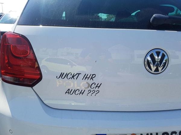 Der einzige Autoaufkleber, den ein Polo haben darf   Lustiges   Was is hier eigentlich los?   wihel.de