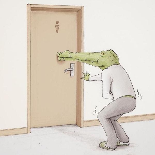 Die Probleme, die man als Krokodil so hat - illustriert von Keigo | Design/Kunst | Was is hier eigentlich los? | wihel.de