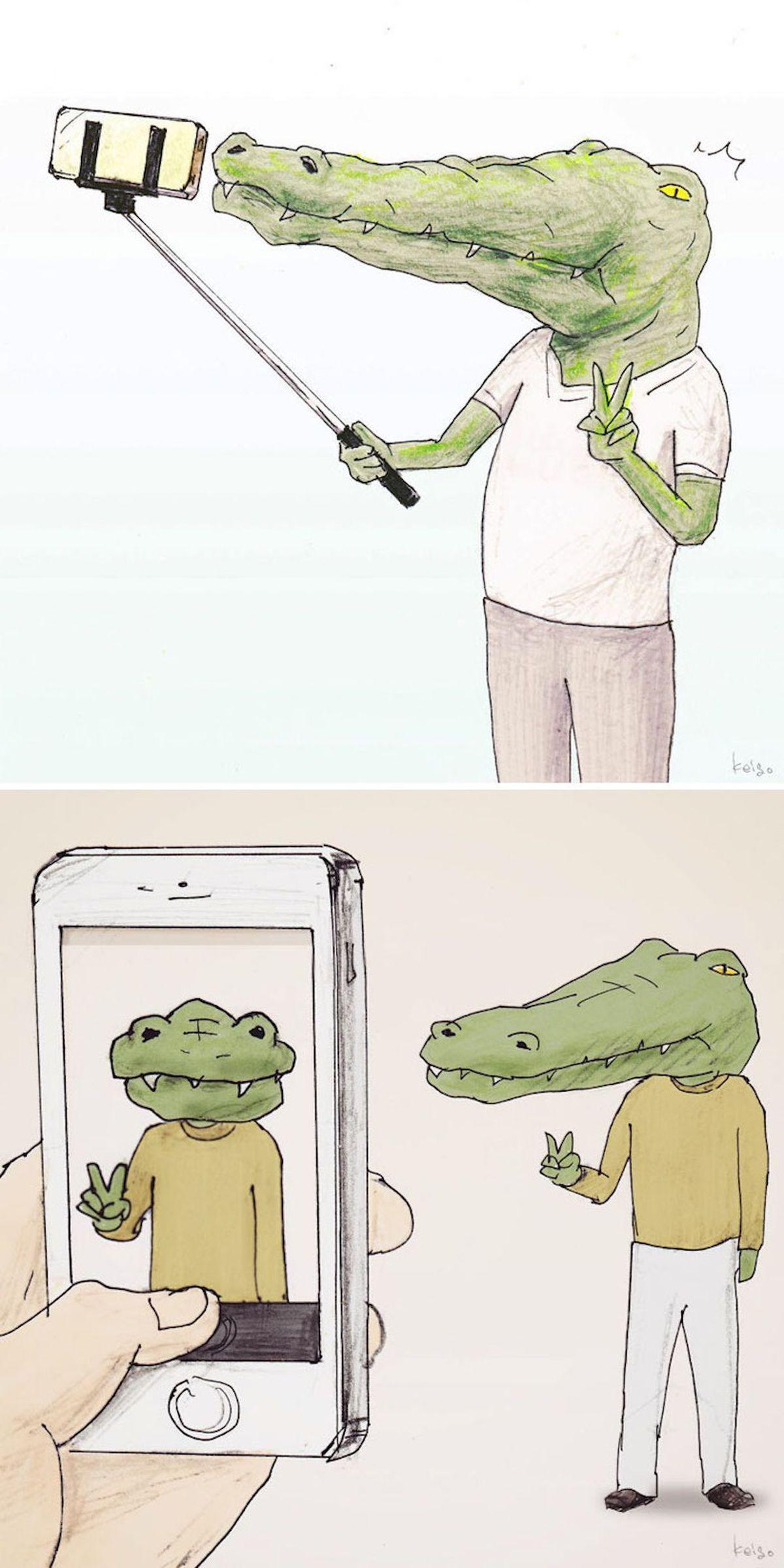 Die Probleme, die man als Krokodil so hat - illustriert von Keigo | Design/Kunst | Was is hier eigentlich los?
