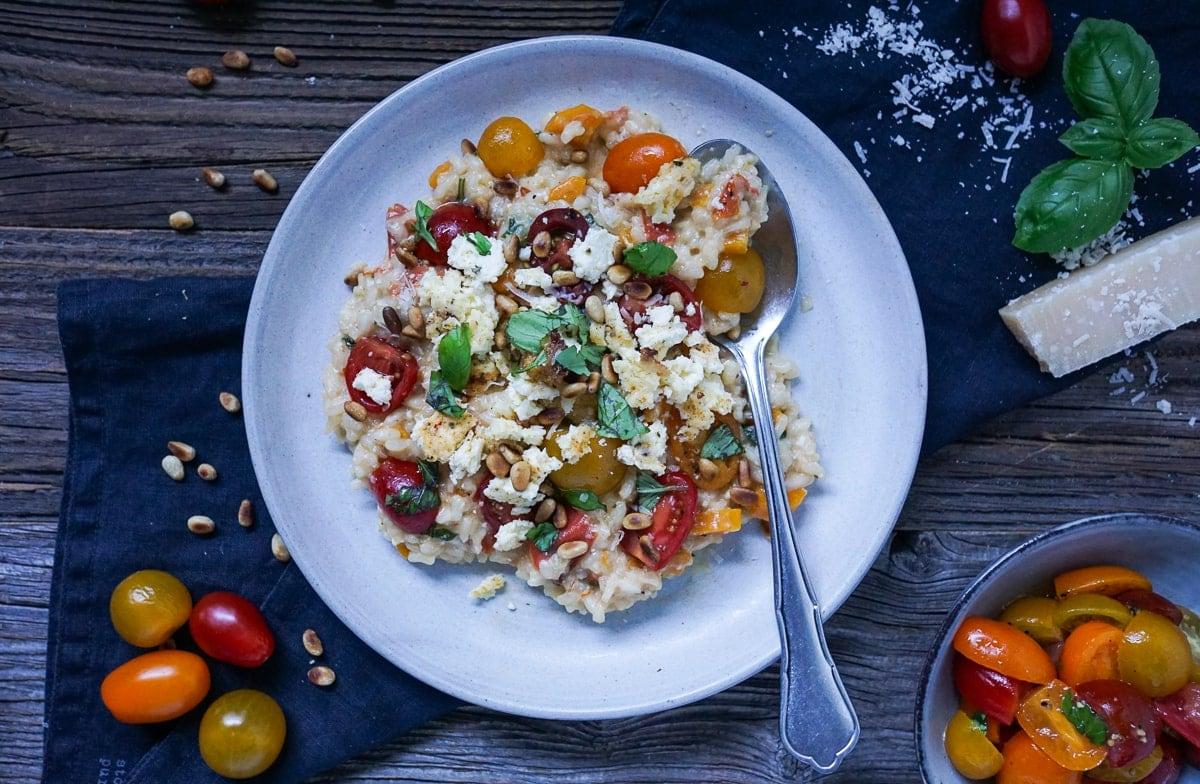 Line kocht Risotto mit Tomaten und gebackenem Ricotta | Line kocht | Was is hier eigentlich los?
