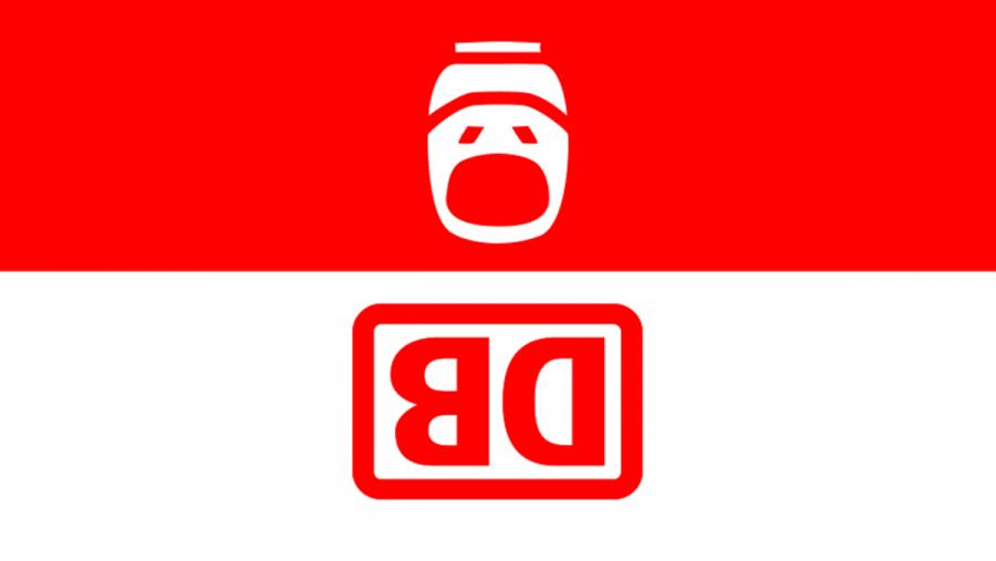 Wenn man das Logo der Deutschen Bahn auf den Kopf stellt, sieht man den Kunden | Lustiges | Was is hier eigentlich los?