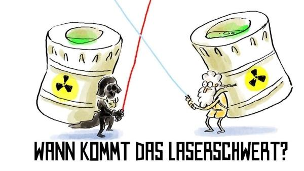 Wer nicht fragt, stirbt dumm: Wann kommt das Laserschwert? | Was gelernt | Was is hier eigentlich los? | wihel.de