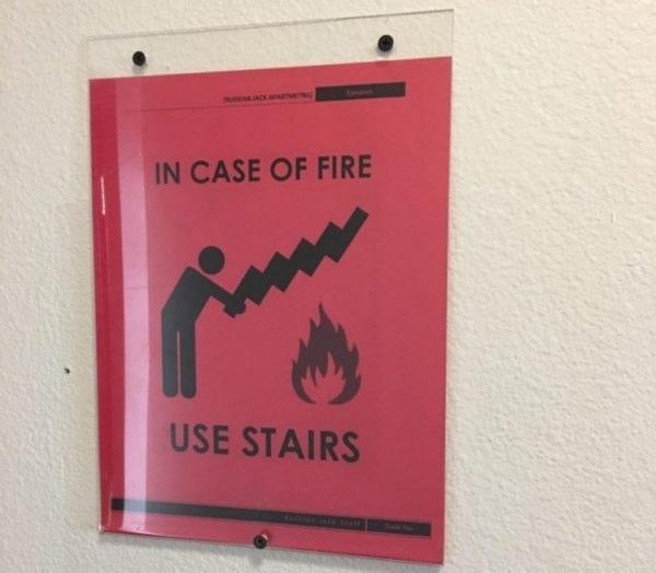Endlich klar: Wie man im Brandfall die Treppe richtig benutzt | Lustiges | Was is hier eigentlich los? | wihel.de