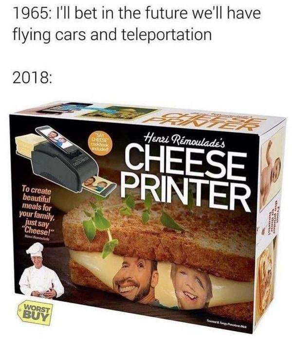 Willkommen in der Zukunft und drucke dein Gesicht auf Käse | Lustiges | Was is hier eigentlich los? | wihel.de