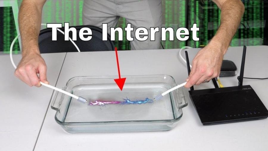 Kann man Internet einfach durch Wasser übertragen? | Nerd-Kram | Was is hier eigentlich los?
