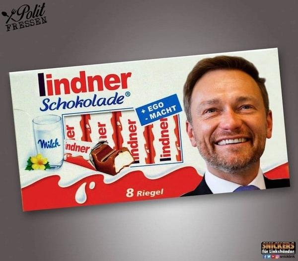 Polit-Fressen - Snacks in der Politiker-Version von Snickers für Linkshänder | Lustiges | Was is hier eigentlich los? | wihel.de