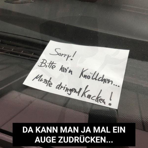 Wenn man wirklich kein Knöllchen verdient hat | Lustiges | Was is hier eigentlich los? | wihel.de