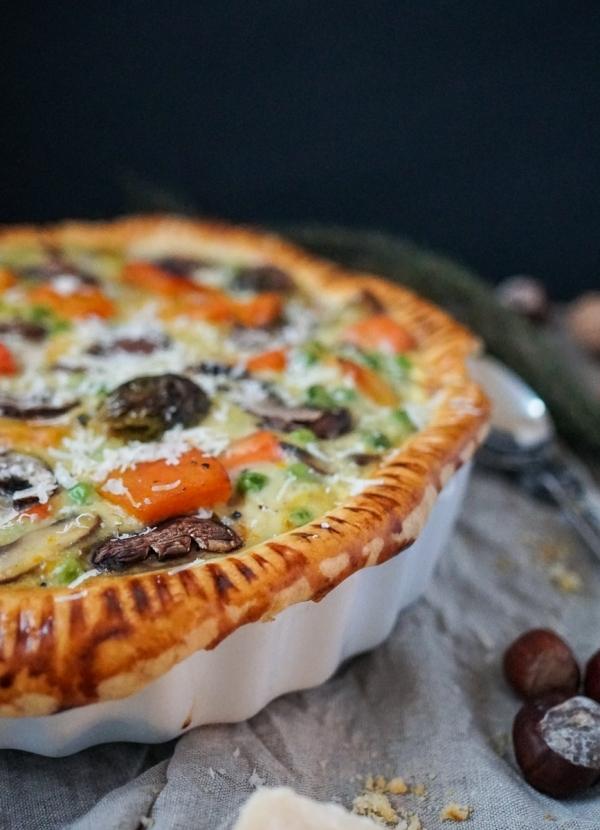 Line macht Wintergemüse-Pie mit Rosenkohl und Karotten | Line kocht | Was is hier eigentlich los?