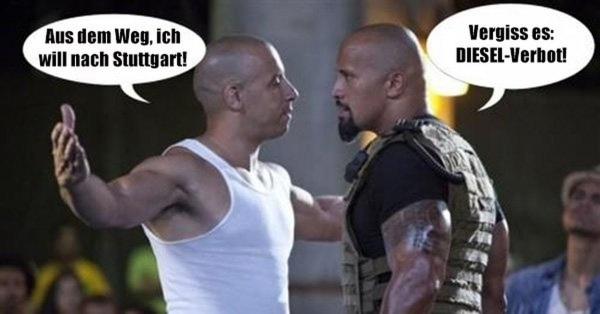 Flachwitz der Woche: Vin Diesel darf nicht mehr nach Stuttgart | Lustiges | Was is hier eigentlich los? | wihel.de