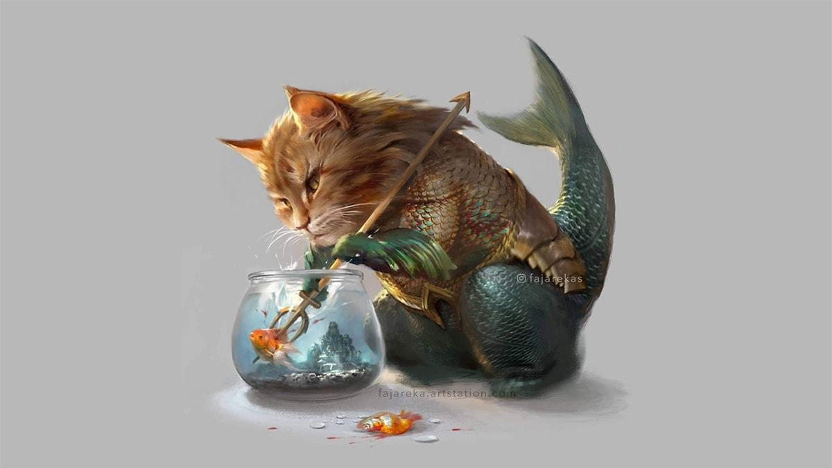 Superhelden als Katzen illustriert von Fajareka Setiawan | Design/Kunst | Was is hier eigentlich los?