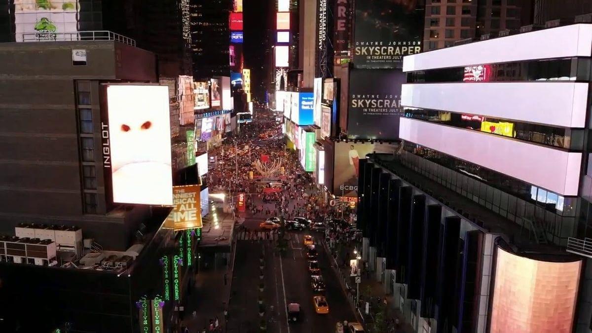 Mit der Drohne durch den Manhattan Time Square | Travel | Was is hier eigentlich los?