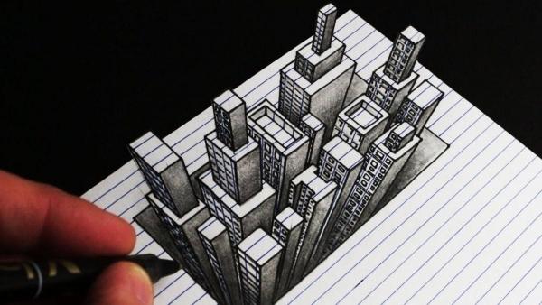 Wie man eine 3D City-Skyline zeichnet | Was gelernt | Was is hier eigentlich los? | wihel.de