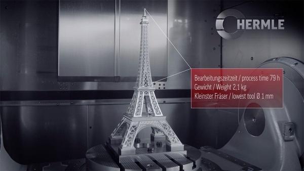 Der Eiffelturm aus einem Metallblock gefräst | Handwerk | Was is hier eigentlich los? | wihel.de