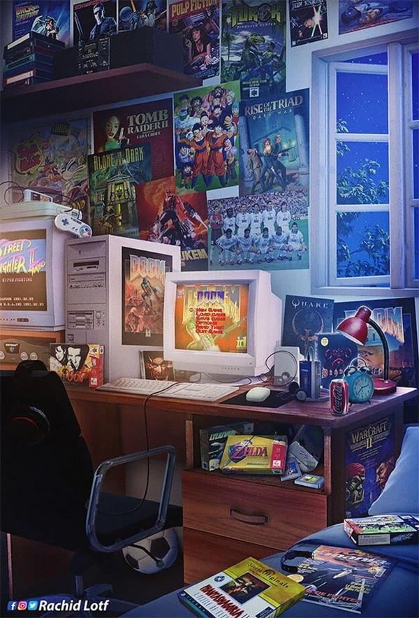 Eine Hommage an die Kinderzimmer der 90er von Rachid Lotf   Design/Kunst   Was is hier eigentlich los?   wihel.de