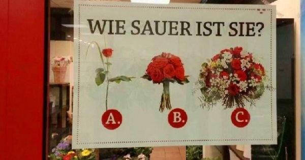 Kleine Auswahlhilfe für Männer im Blumenladen | Lustiges | Was is hier eigentlich los? | wihel.de