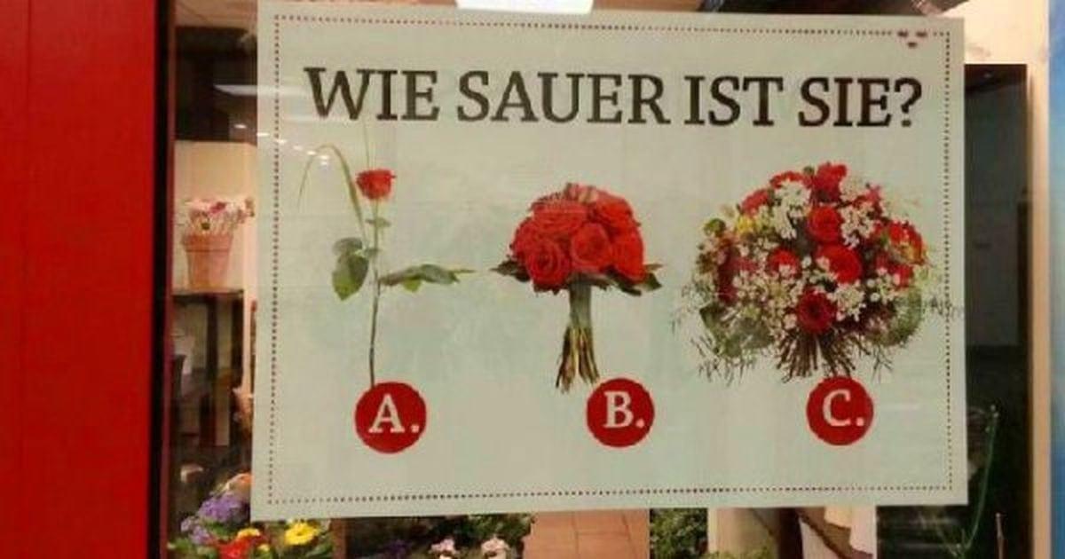 Kleine Auswahlhilfe für Männer im Blumenladen | Lustiges | Was is hier eigentlich los?