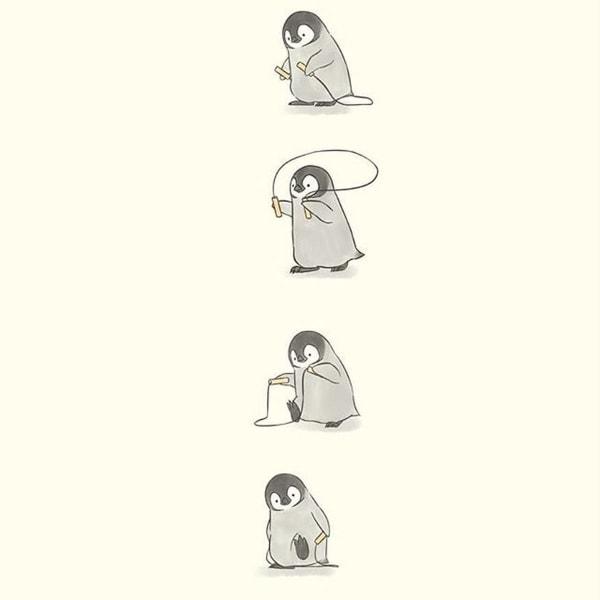 Der beste Instagram-Account für Pinguinliebhaber: Sheba.Drawing | Design/Kunst | Was is hier eigentlich los? | wihel.de