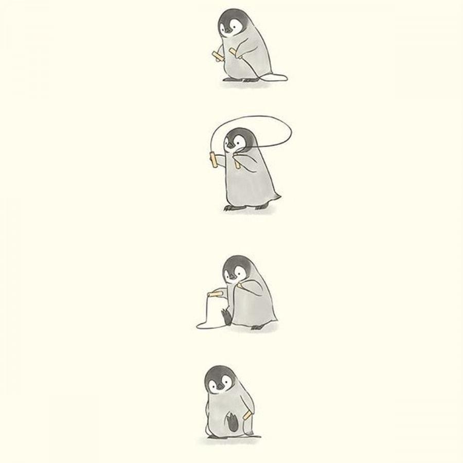 Der beste Instagram-Account für Pinguinliebhaber: Sheba.Drawing | Design/Kunst | Was is hier eigentlich los?