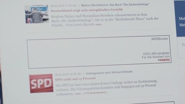 Die Partei schmeißt den AfD-Blocker unters Volk – online UND offline | Nerd-Kram | Was is hier eigentlich los?