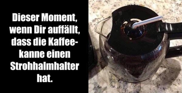 Erkenntnis der Woche: Strohhalmhalter in der Kaffeekanne | Lustiges | Was is hier eigentlich los? | wihel.de