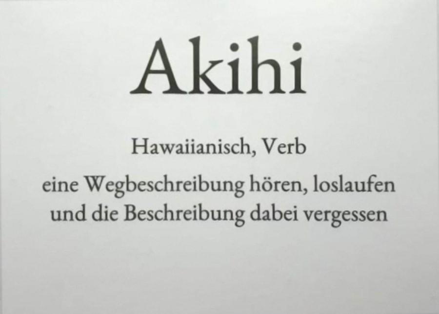 Akihi – Der Montag in einem Wort   Lustiges   Was is hier eigentlich los?
