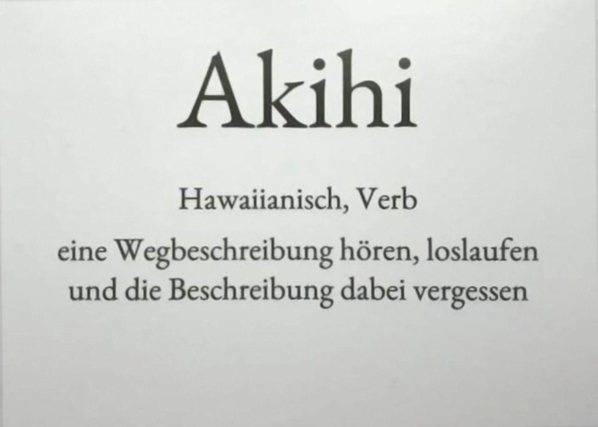 Akihi – Der Montag in einem Wort | Lustiges | Was is hier eigentlich los?